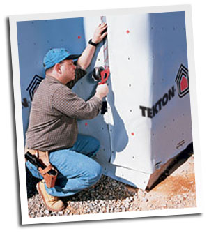 Installing TEKTON Construction Tape